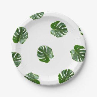 Plaques à papier tropicales d'impression de assiettes en papier