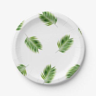 Plaques à papier tropicales d'impression en assiettes en papier