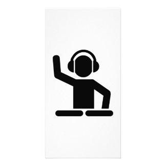Plaques tournantes du DJ Cartes De Vœux Avec Photo