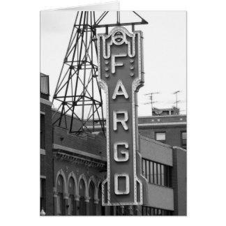 Plaquette de théâtre de film de Fargo Cartes