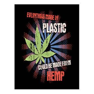 Plastique de chanvre cartes postales