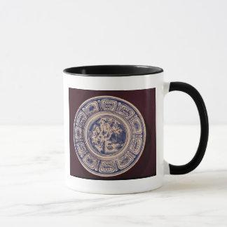 Plat bleu, dérivant d'une défunte exportation de mugs