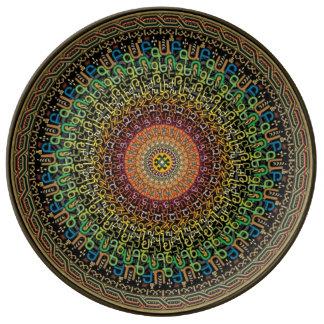 Plat d'alphabet arménien assiette en porcelaine
