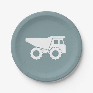Plat de camion à benne basculante de plaques à assiettes en papier