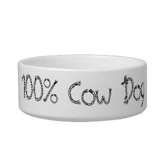Plat de chien de vache à 100% assiettes pour chat