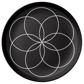 Plat de fleur de tour assiette en porcelaine