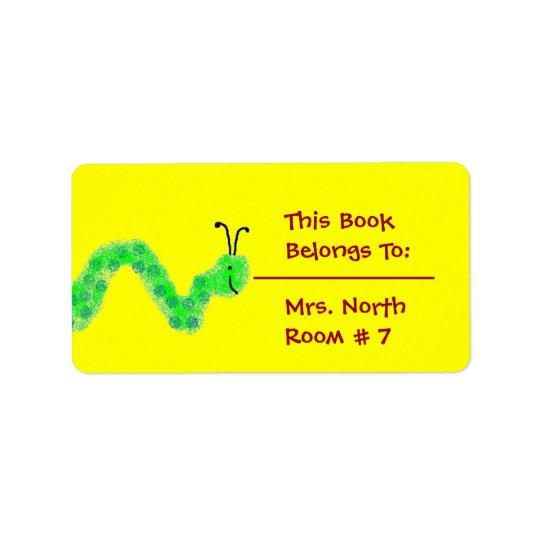 Plat de livre de rat de bibliothèque étiquette d'adresse