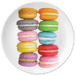 Plat de Macarons Assiettes En Porcelaine