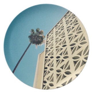 Plat de paume de Los Angeles et de mélamine Assiettes En Mélamine