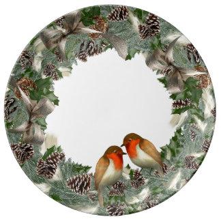 Plat de porcelaine de Noël Assiette En Porcelaine
