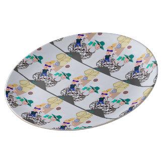 """Plat de porcelaine """"d'éclipse solaire"""" avant mars assiette en porcelaine"""