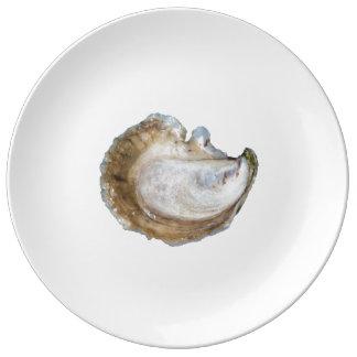 Plat de porcelaine d'huître - conception C Assiettes En Porcelaine