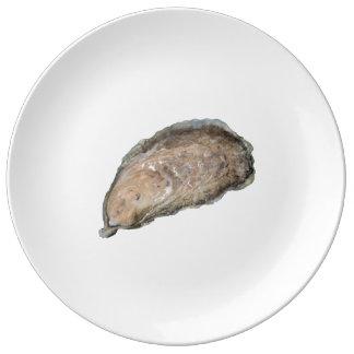 Plat de porcelaine d'huître - conception D Assiettes En Porcelaine