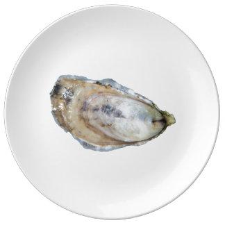 Plat de porcelaine d'huître - concevez A Assiette En Porcelaine