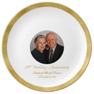 Plat de signature fait sur commande d'invité assiettes en porcelaine