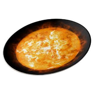 Plat de Sun Assiette En Porcelaine
