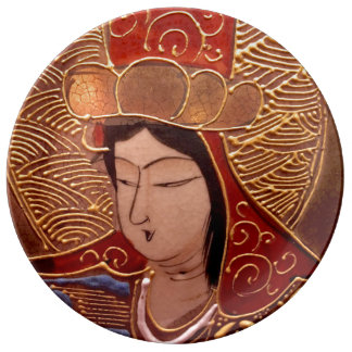 Plat décoratif de porcelaine asiatique élégante de assiette en porcelaine