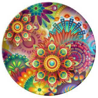 Plat décoratif fait sur commande de porcelaine assiettes en porcelaine