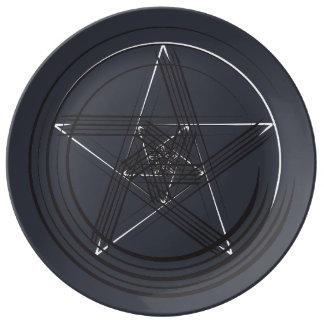 Plat d'étoile de stylo de B&W Assiette En Porcelaine