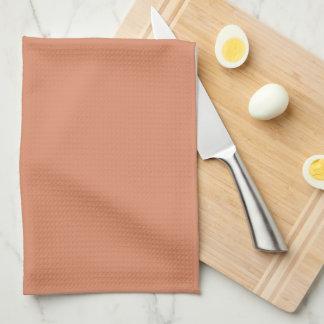 Plat fait sur commande de cuivre pâle de cuisine serviettes éponge