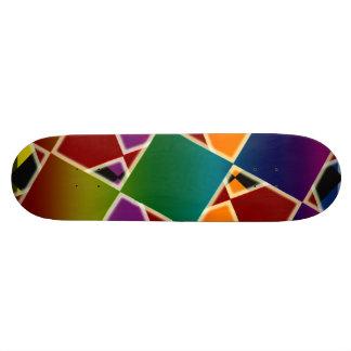 Plate-forme carrée colorée carrelée de planche à skateboard 21,6 cm