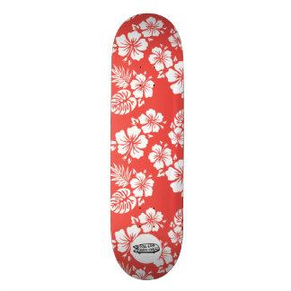 Plate-forme conseil rouge/blanc d'Hawaï de FLSC de Skateboard