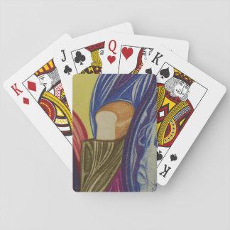 Plate-forme d'art du pain du bricoleur jeux de cartes