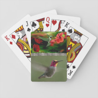 Plate-forme de colibris des cartes de jeu jeu de cartes