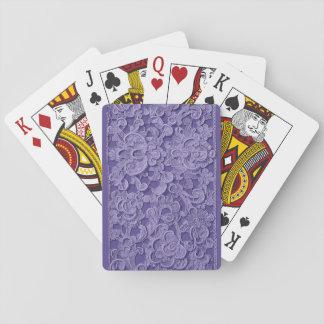 Plate-forme de dentelle des cartes pourpre vintage jeu de cartes