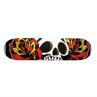 plate-forme de tatouage de crâne plateau de skate