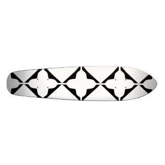 Plate-forme noire gothique de planche à roulettes mini skateboard 18,4 cm