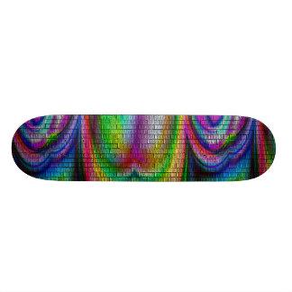 plate-forme psychédélique d'arc-en-ciel skateboard old school  21,6 cm