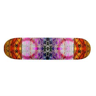 Plate-forme violette de patin du feu de fractale skateboards personnalisés
