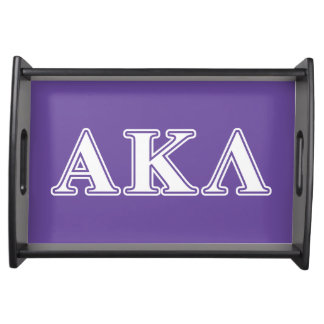 Plateau Alpha Kappa lettres pourpres et jaunes de lambda
