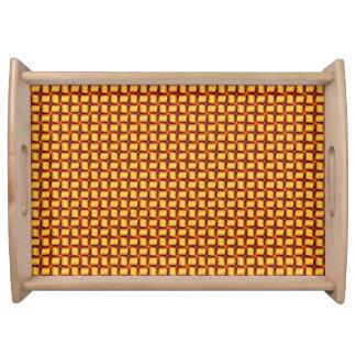 Plateau barres d'or 3D tissées métalliques servant le