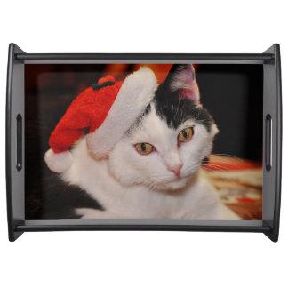 Plateau Chat du père noël - Joyeux Noël - choyez le chat