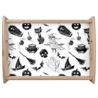 Plateau Conception de motif de Halloween
