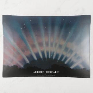 plateau de bibelot de Borealis de l'aurore de