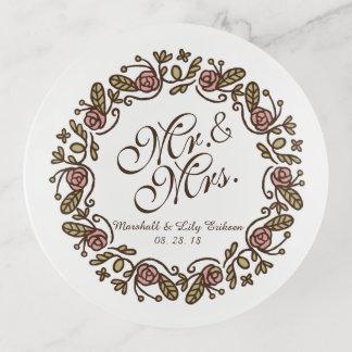Plateau de bibelot de M. et de Mme Elegant Floral