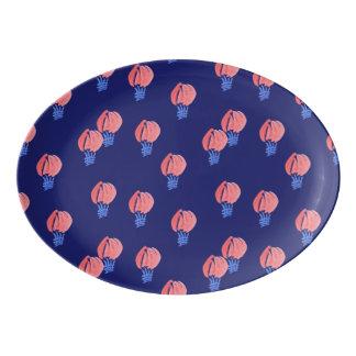 Plateau de coupé de porcelaine de ballons à air
