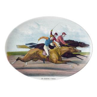 Plateau de course de chevaux pour le collecteur
