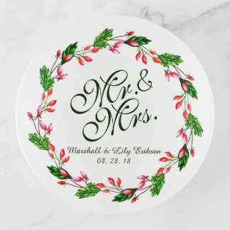 Plateau de M. et de Mme Elegant Floral Wedding