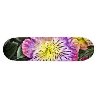 Plateau De Planche À Roulettes fleurs peintes stupéfiantes