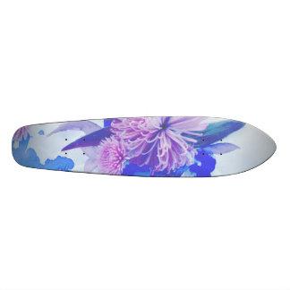 Plateau De Planche À Roulettes Pourpre, bleu et Longboard imprimé floral