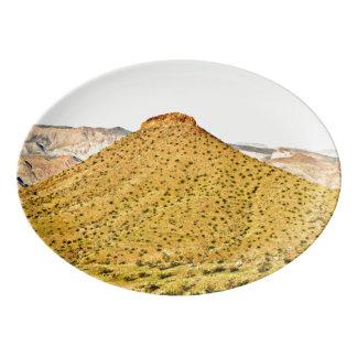 Plateau de porcelaine de colline d'or du Nevada