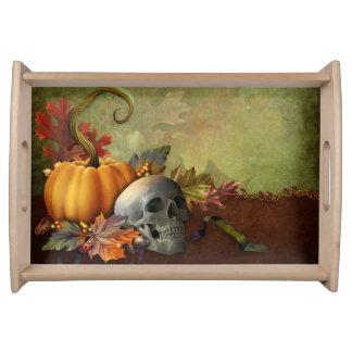 Plateau de portion de crâne de Halloween
