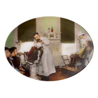 Plateau De Service En Porcelaine Dentiste - traitement de eux comme les enfants