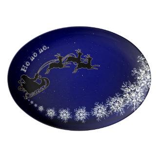 Plateau De Service En Porcelaine Ho ho ho Père Noël