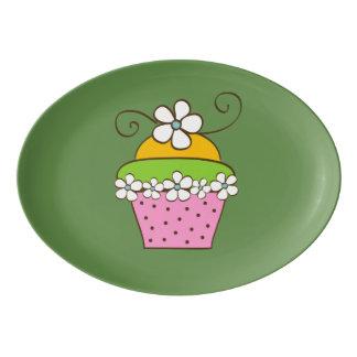 Plateau De Service En Porcelaine Illustration de Cucake