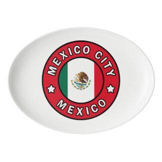 Plateau De Service En Porcelaine Mexico Mexique
